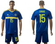 Wholesale Cheap Bosnia Herzegovina #15 Sunjic Home Soccer Country Jersey