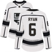 Wholesale Cheap Adidas Kings #6 Joakim Ryan White Road Authentic Women's Stitched NHL Jersey