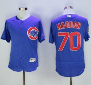 Wholesale Cheap Cubs #70 Joe Maddon Blue Flexbase Authentic Collection Stitched MLB Jersey