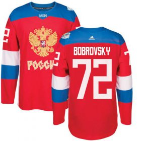 Wholesale Cheap Team Russia #72 Sergei Bobrovsky Red 2016 World Cup Stitched NHL Jersey