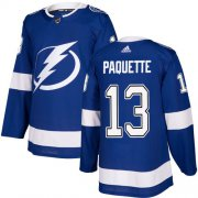 Cheap Adidas Lightning #13 Cedric Paquette Blue Home Authentic Youth Stitched NHL Jersey