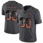Wholesale Cheap Denver Broncos #30 Phillip Lindsay Nike 2018 Salute to Service Retro USA Flag Limited NFL Jersey