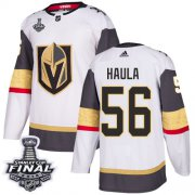 Wholesale Cheap Adidas Golden Knights #56 Erik Haula White Road Authentic 2018 Stanley Cup Final Stitched NHL Jersey