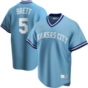 Wholesale Cheap Kansas City Royals #5 George Brett Nike Road Cooperstown Collection Player MLB Jersey Light Blue
