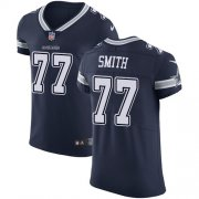 Wholesale Cheap Nike Cowboys #77 Tyron Smith Navy Blue Team Color Men's Stitched NFL Vapor Untouchable Elite Jersey
