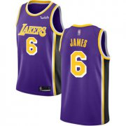 Cheap Youth Lakers #6 LeBron James Purple Basketball Swingman Statement Edition Jersey