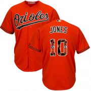 Wholesale Cheap Orioles #10 Adam Jones Orange Team Logo Fashion Stitched MLB Jersey