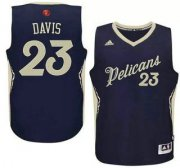 Wholesale Cheap Men's New Orleans Pelicans #23 Anthony Davis Revolution 30 Swingman 2015 Christmas Day Navy Blue Jersey