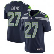 Wholesale Cheap Nike Seahawks #27 Mike Davis Steel Blue Team Color Men's Stitched NFL Vapor Untouchable Limited Jersey