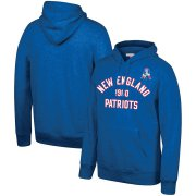 Wholesale Cheap New England Patriots Mitchell & Ness Team History Pullover Hoodie Blue