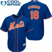 Wholesale Cheap Mets #18 Travis d'Arnaud Blue Cool Base Stitched Youth MLB Jersey