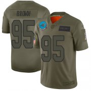 Wholesale Cheap Nike Panthers #95 Derrick Brown Camo Men's Stitched NFL Limited 2019 Salute To Service Jersey