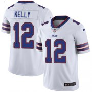 Wholesale Cheap Nike Bills #12 Jim Kelly White Men's Stitched NFL Vapor Untouchable Limited Jersey