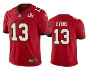 Wholesale Cheap Men's Tampa Bay Buccaneers #13 Mike Evans Red 2021 Super Bowl LV Vapor Untouchable Stitched Nike Limited NFL Jersey