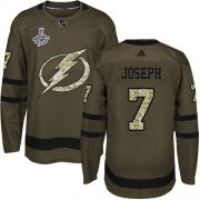 Cheap Adidas Lightning #7 Mathieu Joseph Green Salute to Service Youth 2020 Stanley Cup Champions Stitched NHL Jersey