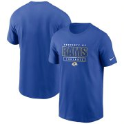Wholesale Cheap Los Angeles Rams Nike Team Property Of Essential T-Shirt Royal