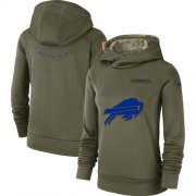 Wholesale Cheap Women's Buffalo Bills Nike Olive Salute to Service Sideline Therma Performance Pullover Hoodie