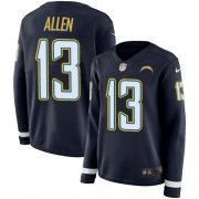 Wholesale Cheap Nike Chargers #13 Keenan Allen Navy Blue Team Color Women's Stitched NFL Limited Therma Long Sleeve Jersey