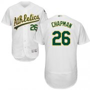 Wholesale Cheap Athletics #26 Matt Chapman White Flexbase Authentic Collection Stitched MLB Jersey