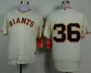 Wholesale Cheap Giants #36 Gaylord Perry Cream Home Cool Base Stitched MLB Jersey