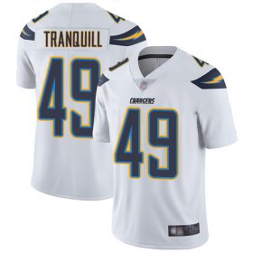 Wholesale Cheap Nike Chargers #49 Drue Tranquill White Men\'s Stitched NFL Vapor Untouchable Limited Jersey