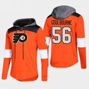 Wholesale Cheap Flyers #56 Tyrell Goulbourne Orange 2018 Pullover Platinum Hoodie