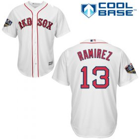 Wholesale Cheap Red Sox #13 Hanley Ramirez White Cool Base 2018 World Series Stitched Youth MLB Jersey