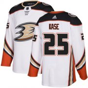 Wholesale Cheap Adidas Ducks #25 Ondrej Kase White Road Authentic Youth Stitched NHL Jersey