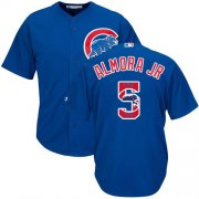 Wholesale Cheap Cubs #5 Albert Almora Jr. Blue Team Logo Fashion Stitched MLB Jersey