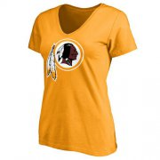 Wholesale Cheap Women's Washington Redskins Pro Line Primary Team Logo Slim Fit T-Shirt Yellow