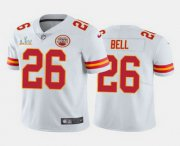 Wholesale Cheap Men's Kansas City Chiefs #26 Le'Veon Bell White 2021 Super Bowl LV Limited Stitched NFL Jersey