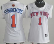 Wholesale Cheap New York Knicks #1 Amare Stoudemire White Womens Jersey