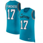 Wholesale Cheap Nike Panthers #17 Devin Funchess Blue Alternate Men's Stitched NFL Limited Rush Tank Top Jersey