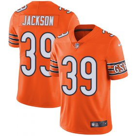 Wholesale Cheap Nike Bears #39 Eddie Jackson Orange Youth Stitched NFL Limited Rush Jersey