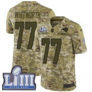 Wholesale Cheap Nike Rams #77 Andrew Whitworth Camo Super Bowl LIII Bound Youth Stitched NFL Limited 2018 Salute to Service Jersey