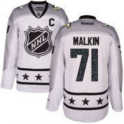 Wholesale Cheap Penguins #71 Evgeni Malkin White 2017 All-Star Metropolitan Division Stitched Youth NHL Jersey