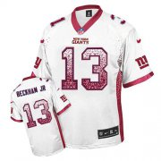 Wholesale Nike Giants #13 Odell Beckham Jr White Men's Stitched NFL Elite Drift Fashion Jersey