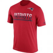 Wholesale Cheap Men's New England Patriots Nike Practice Legend Performance T-Shirt Red