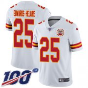 Wholesale Cheap Nike Chiefs #25 Clyde Edwards-Helaire White Youth Stitched NFL 100th Season Vapor Untouchable Limited Jersey