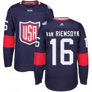 Wholesale Cheap Team USA #16 James van Riemsdyk Navy Blue 2016 World Cup Stitched NHL Jersey