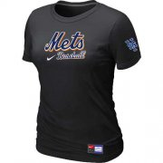 Wholesale Cheap Women's New York Mets Nike Short Sleeve Practice MLB T-Shirt Black