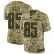 Wholesale Cheap Nike Chargers #85 Antonio Gates Camo Youth Stitched NFL Limited 2018 Salute to Service Jersey