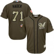 Wholesale Cheap Brewers #71 Josh Hader Green Salute to Service Stitched MLB Jersey