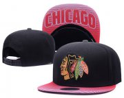 Wholesale Cheap NHL Chicago Blackhawks Team Logo Black Mitchell & Ness Adjustable Hat