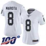 Wholesale Cheap Nike Raiders #8 Marcus Mariota White Women's Stitched NFL 100th Season Vapor Untouchable Limited Jersey