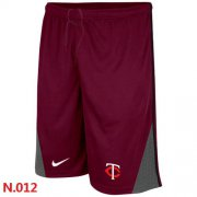 Wholesale Cheap Nike MLB Minnesota Twins Performance Training Shorts Red