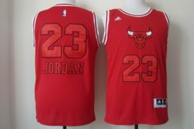 Wholesale Cheap Chicago Bulls #23 Michael Jordan Red With Red Fashion Jersey