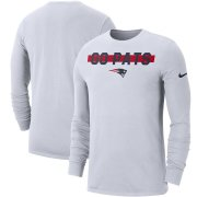 Wholesale Cheap New England Patriots Nike Sideline Local Performance Long Sleeve T-Shirt White