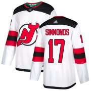 Wholesale Cheap Adidas Devils #17 Wayne Simmonds White Road Authentic Stitched NHL Jersey
