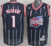 Wholesale Cheap Houston Rockets #1 Tracy McGrady ABA Hardwood Classic Swingman Navy Blue Jersey